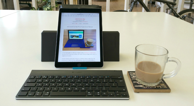 logitech keyboard ipad review, review,